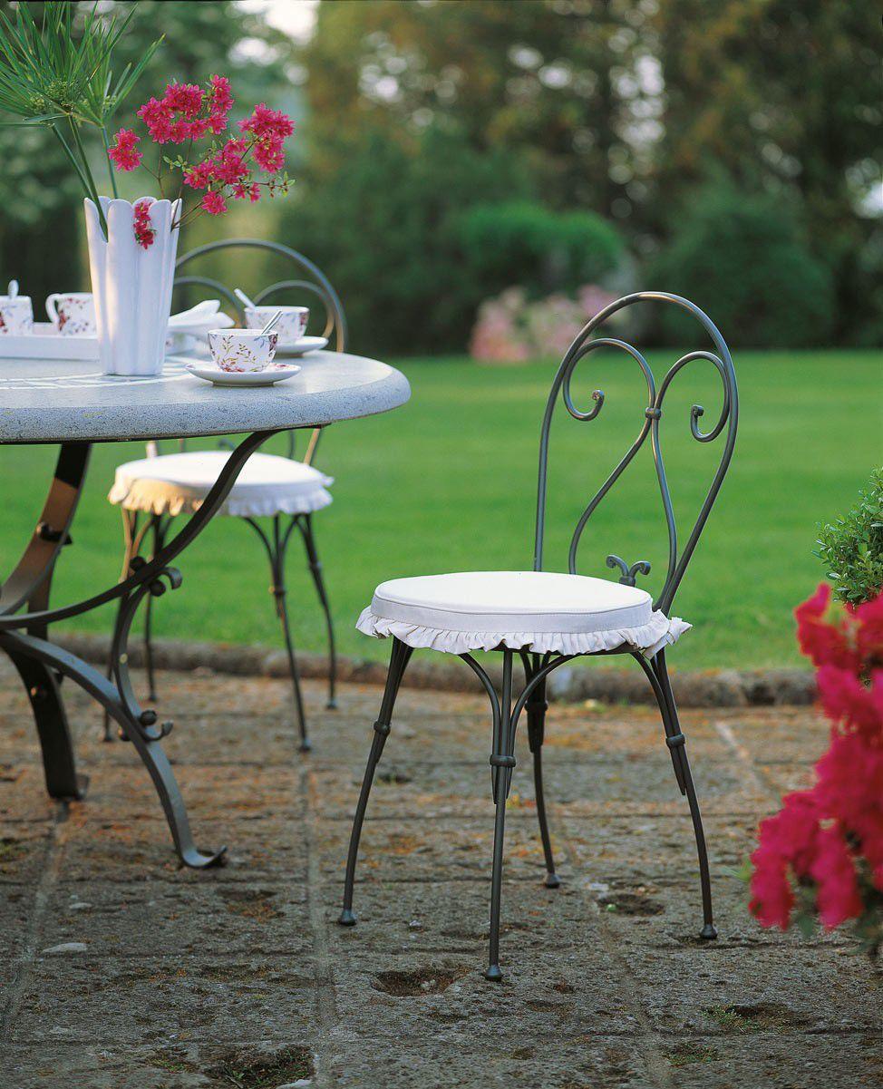 Chaise De Jardin Classique / Avec Accoudoirs / En Fer Forgé intérieur Chaise En Fer Forgé De Jardin