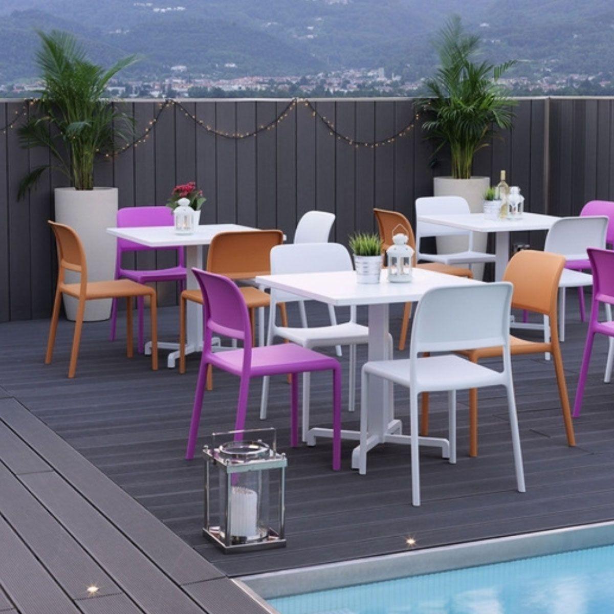 Chaise De Jardin Colorée & Design Riva Bistrot - Taille ... à Chaise Jardin Colorée