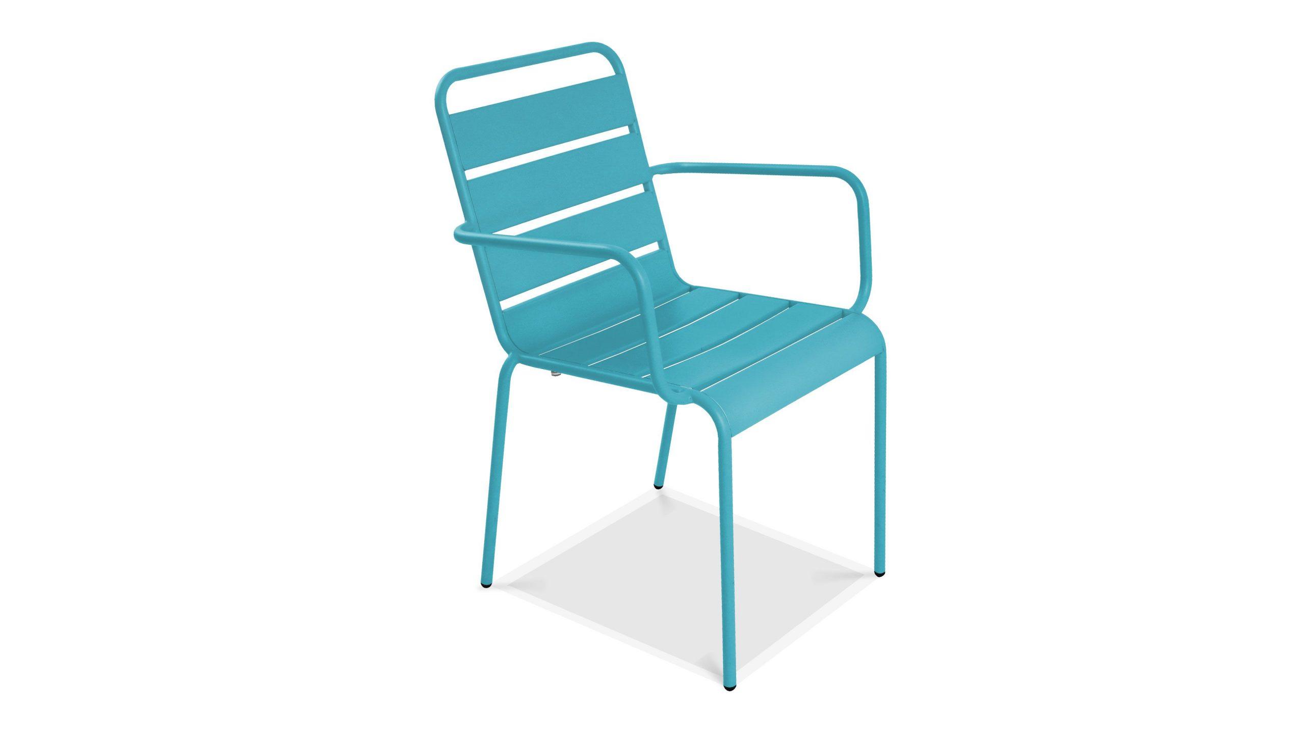 Chaise De Jardin Empilable, Chaise Métal Palavas destiné Chaise De Jardin Bleu