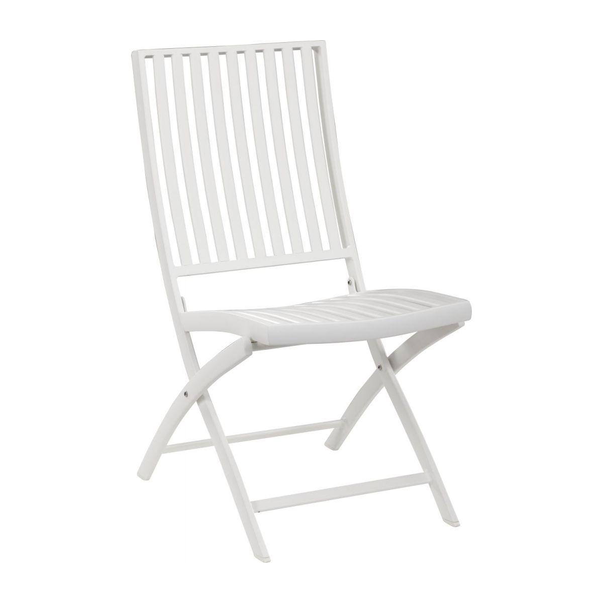 Chaise De Jardin En Aluminium Laqué Blanc concernant Chaise De Jardin Blanche