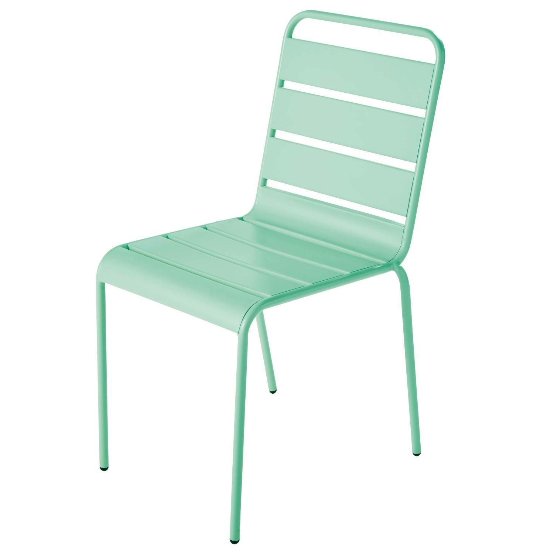 Chaise De Jardin En Métal Bleu Turquoise | Chaise Jardin ... concernant Chaise Jardin Colorée