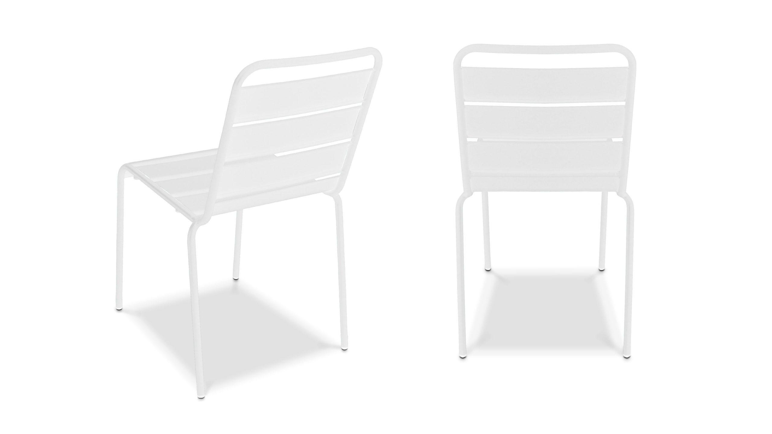 Chaise De Jardin En Métal | Oviala encequiconcerne Chaise De Jardin Blanche