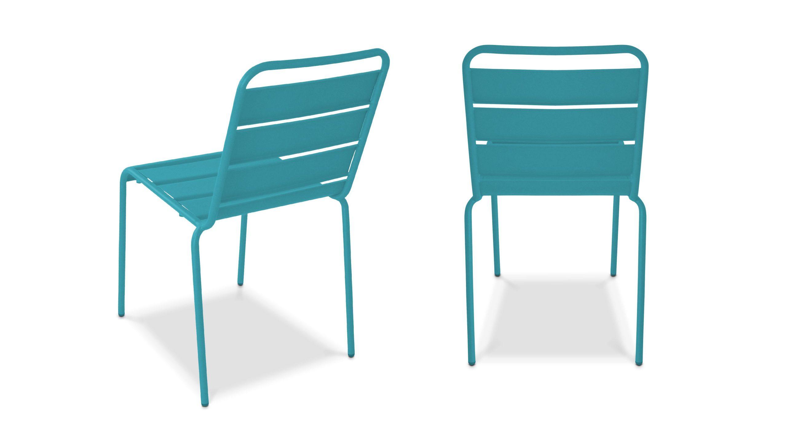 Chaise De Jardin En Métal | Oviala serapportantà Chaise De Jardin Bleu