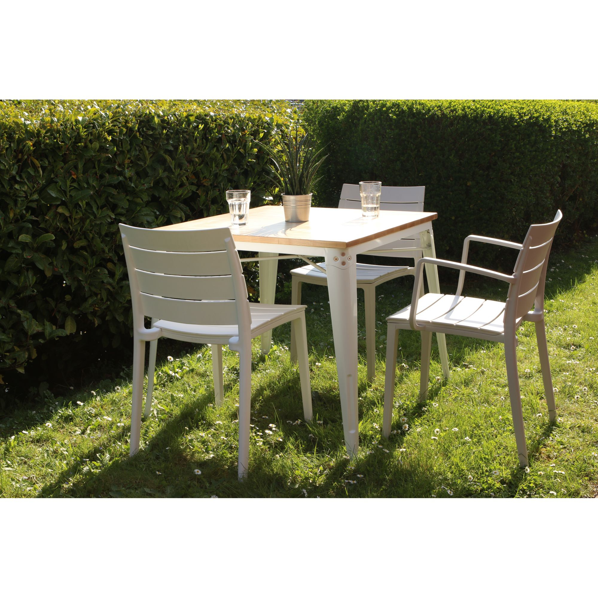 Chaise De Jardin En Plastique Elettra pour Table Et Chaise De Jardin En Plastique