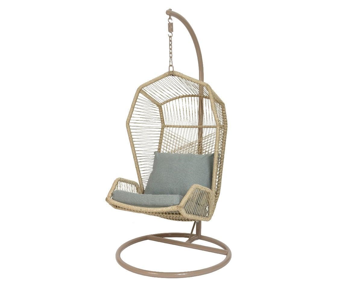 Chaise De Jardin En Polyester Nimbin, Suspendue Gris tout Balancelle De Jardin Leroy Merlin