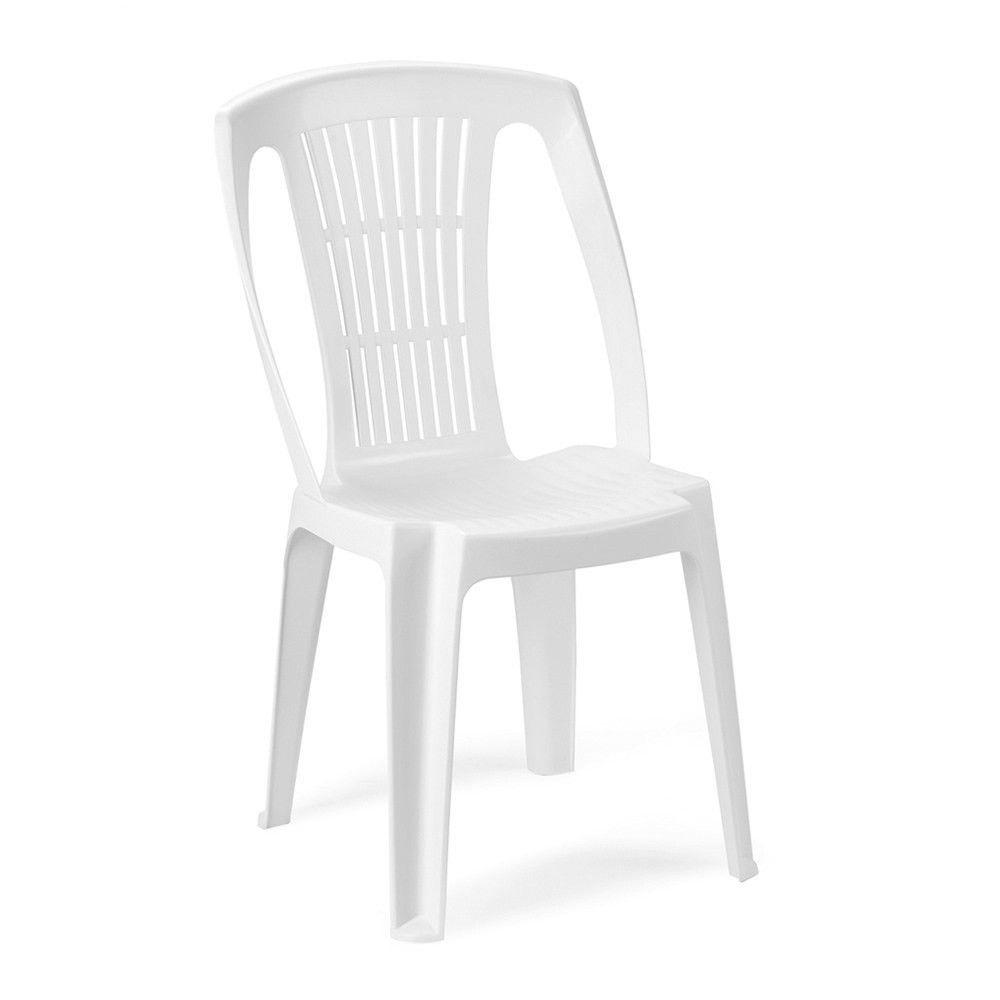 Chaise De Jardin En Résine Empilable Blanche Ste120Bi pour Chaise De Jardin Blanche