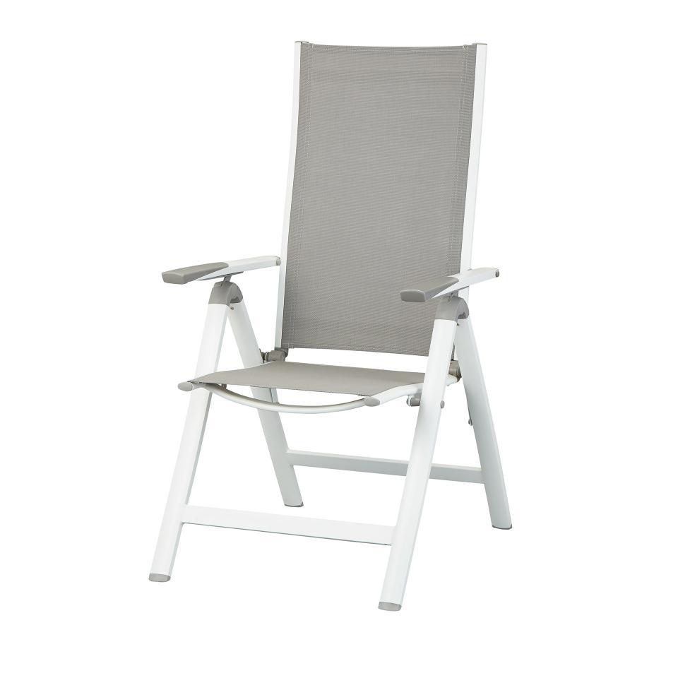 Chaise De Jardin Haiti (6 Positions, Blanc-Gris) serapportantà Chaise De Jardin Blanche