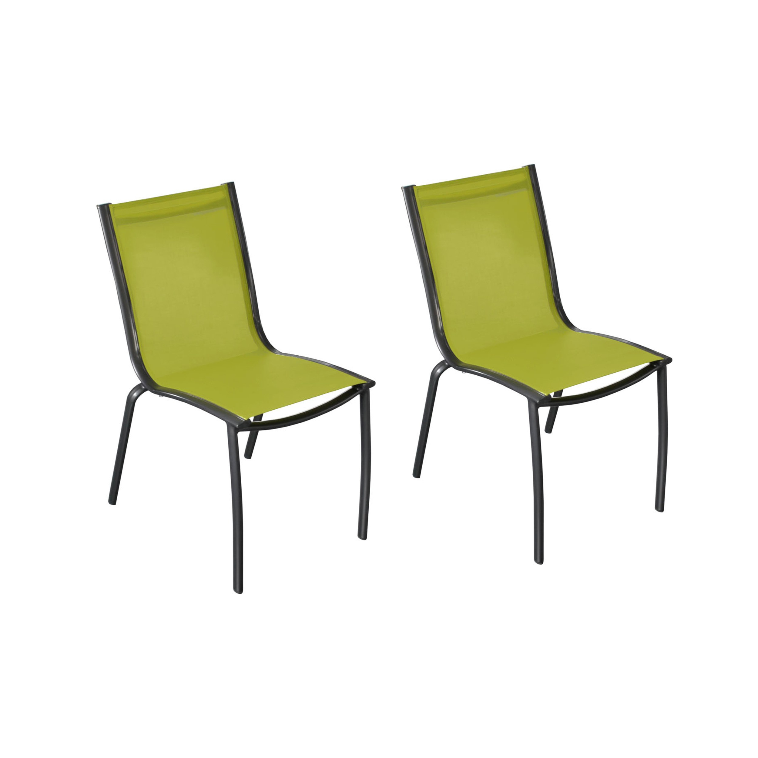 Chaise De Jardin Santa Rosa Vert Anis (Lot De 2) dedans Chaise De Jardin Verte