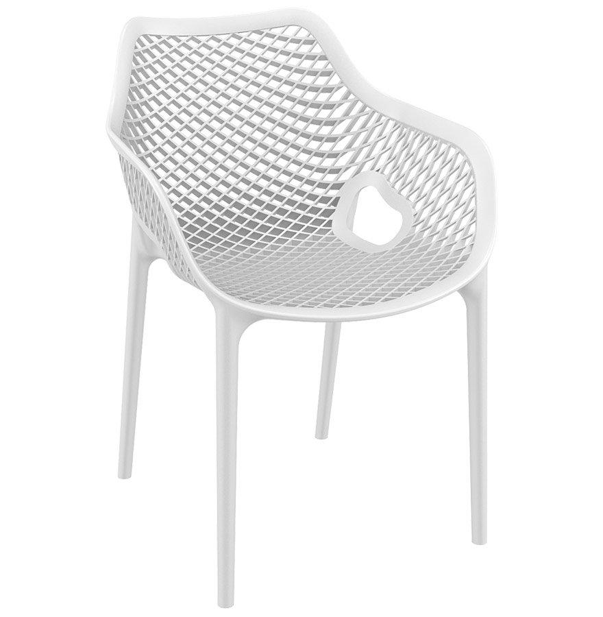 Chaise De Jardin / Terrasse ´sister´ Blanche En Matière Plastique serapportantà Chaise De Jardin Blanche