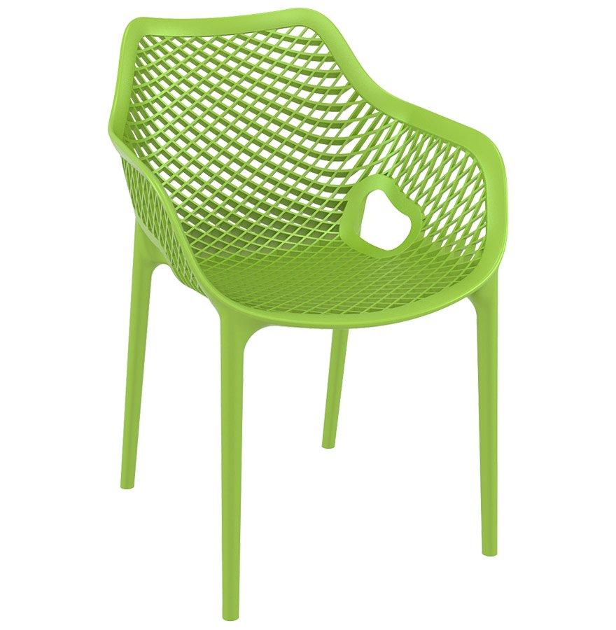 Chaise De Jardin / Terrasse ´sister´ Verte En Matière Plastique destiné Chaise De Jardin Verte