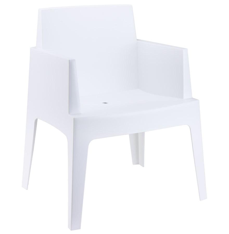 Chaise Design 'plemo' Blanche En Matière Plastique avec Chaise De Jardin Blanche