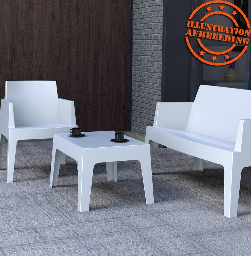 Chaise Design Plemo Xl - Banc De Jardin Blanc En Matière ... concernant Banc De Jardin Plastique