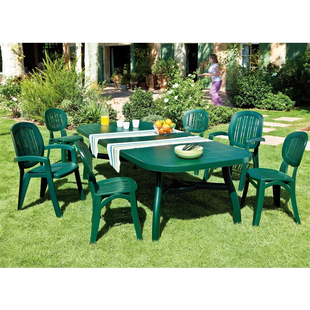 Chaise Elba Vert à Table Et Chaise De Jardin En Plastique