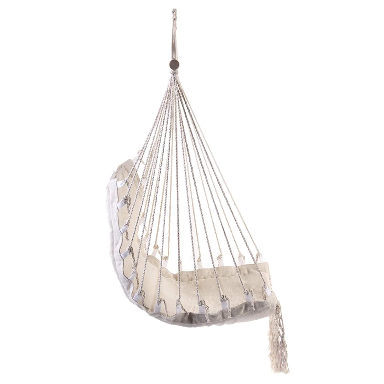 Chaise Hamac Suspendu Plafond Blanc (Pour Le Jardin ... dedans Chaise Suspendue Jardin