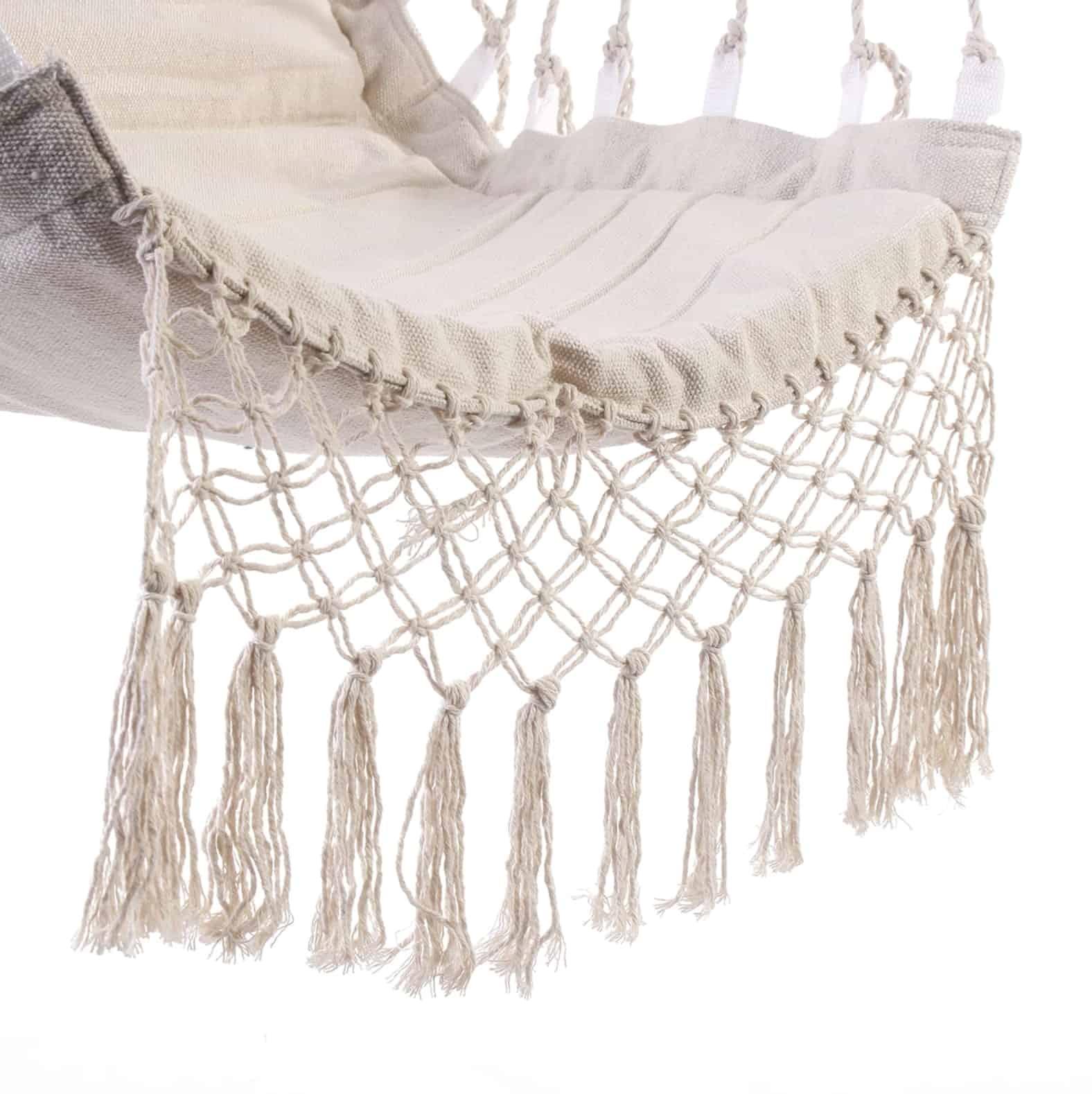 Chaise Hamac Suspendu Plafond Blanc (Pour Le Jardin ... encequiconcerne Chaise Suspendue Jardin