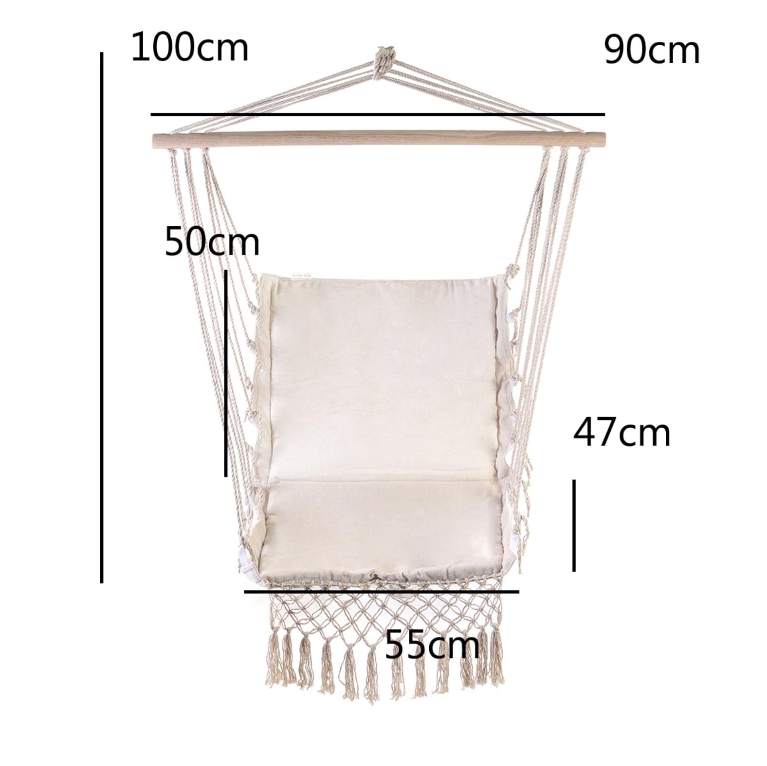 Chaise Hamac Suspendu Plafond Blanc (Pour Le Jardin ... intérieur Chaise Suspendue Jardin