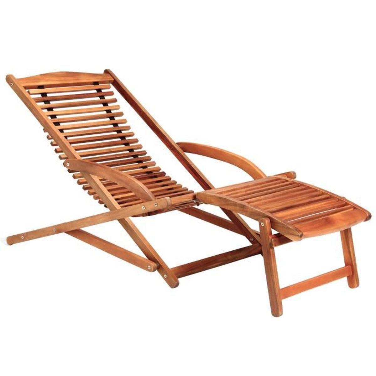 Chaise Longue Bois Jardin pour Chaise Longue Jardin Pas Cher