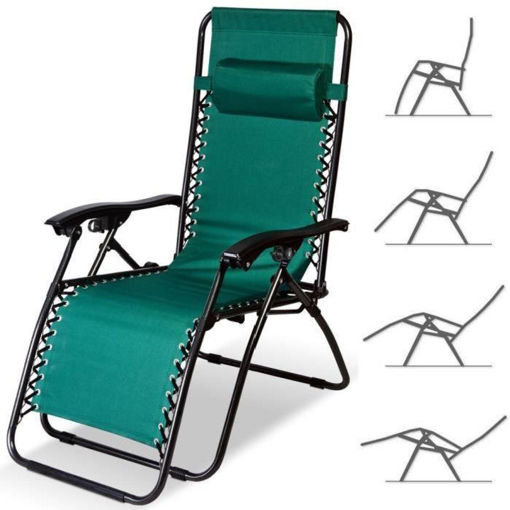 Chaise Longue De Jardin Pliable - Chaise Pliable De Camping - Transat  Terrasse intérieur Chaise Longue Jardin Pas Cher