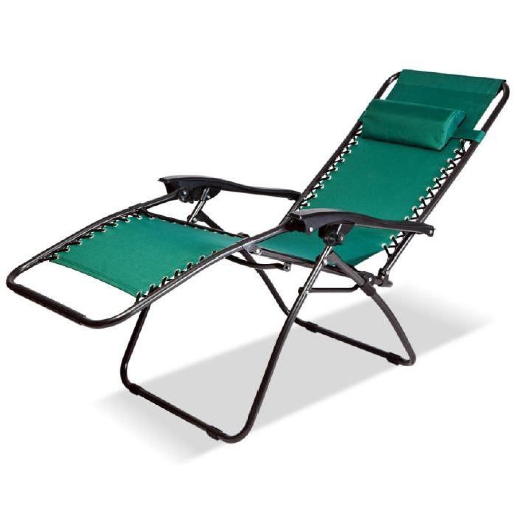 Chaise Longue De Jardin Pliable - Chaise Pliable De Camping - Transat  Terrasse tout Transat Jardin Pas Cher