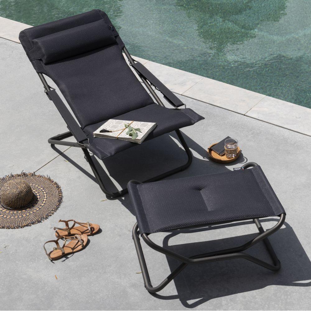 Chaise Longue Transabed Lafuma Be Comfort Dark Grey intérieur Chaise Longue De Jardin Lafuma
