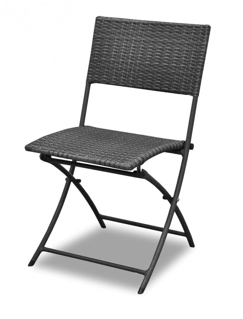Chaise Pliante Dolly Résine Tressée Gris Ice avec Table Et Chaise De Jardin En Resine Tressee