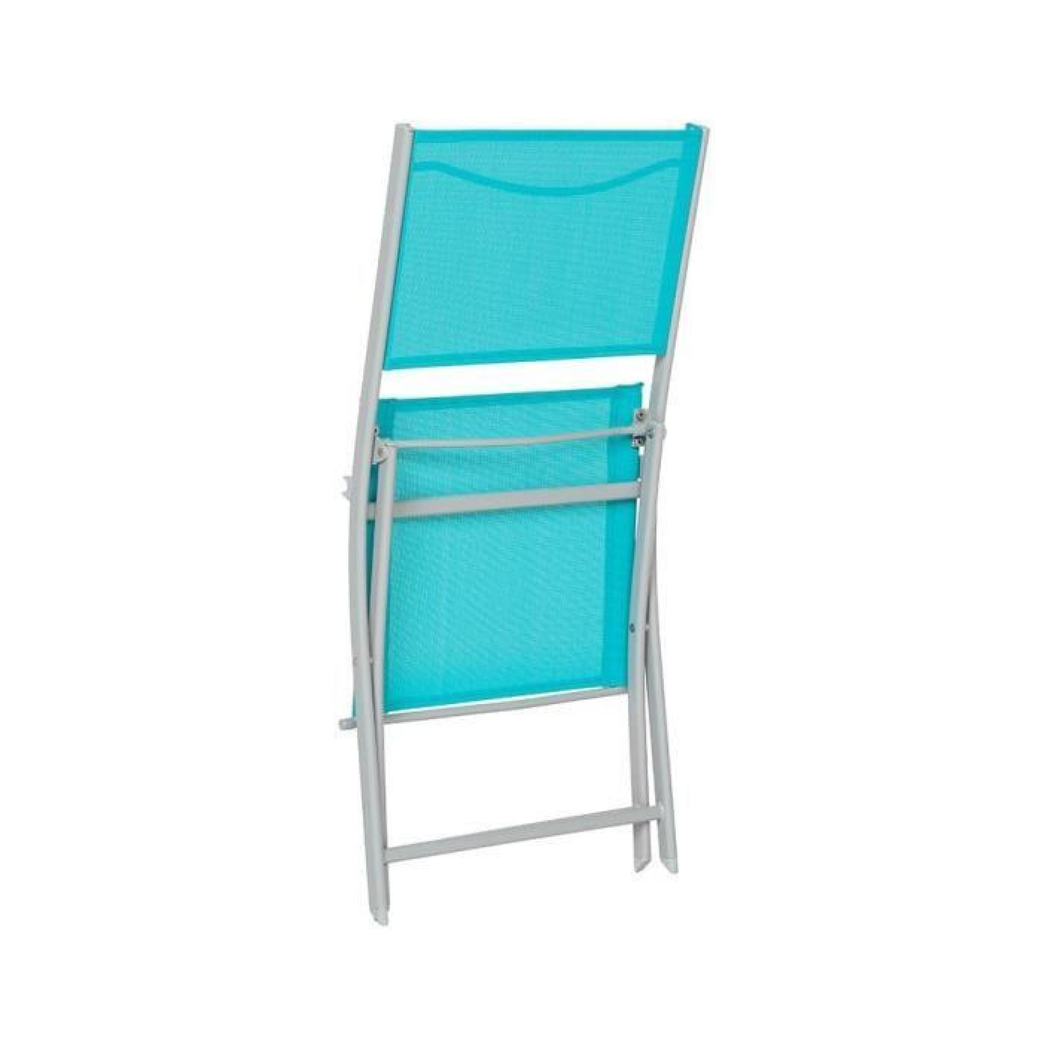 Chaise Pliante Hespéride Modula Bleu Lagon/silver Mat avec Chaise De Jardin Hesperide