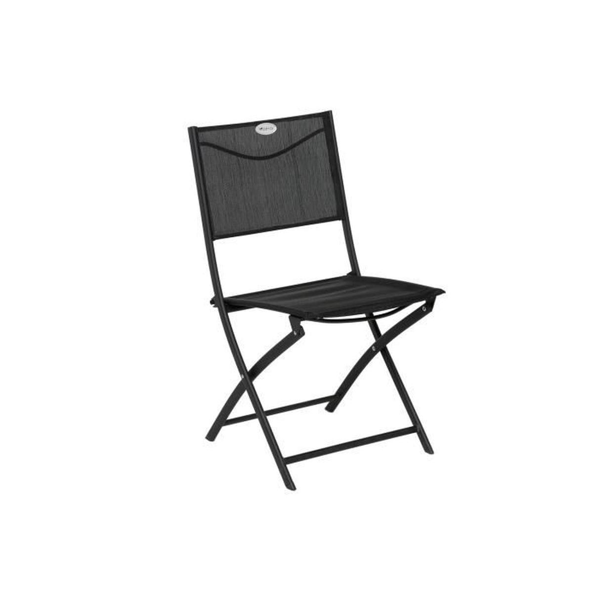 Chaise Pliante Les Compatibles - Noir - Achat / Vente ... à Chaise De Jardin Hesperide