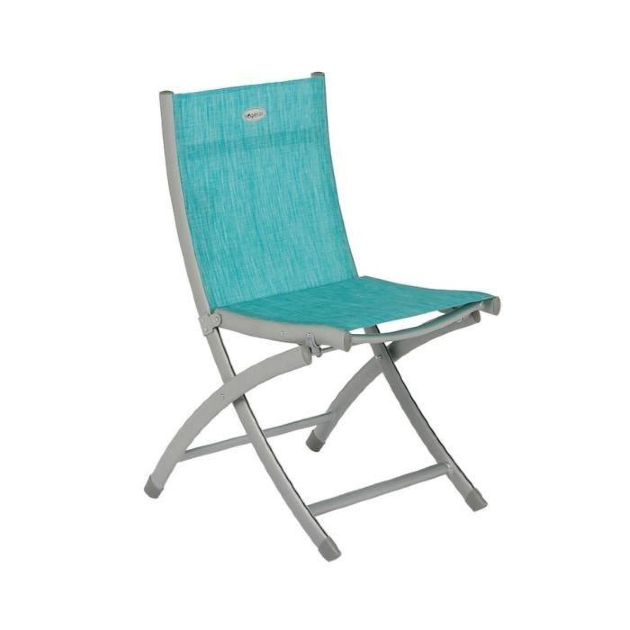 Chaise Pliante Livourne Hespéride Bleu Lagon Chiné intérieur Chaise De Jardin Pliante Pas Cher