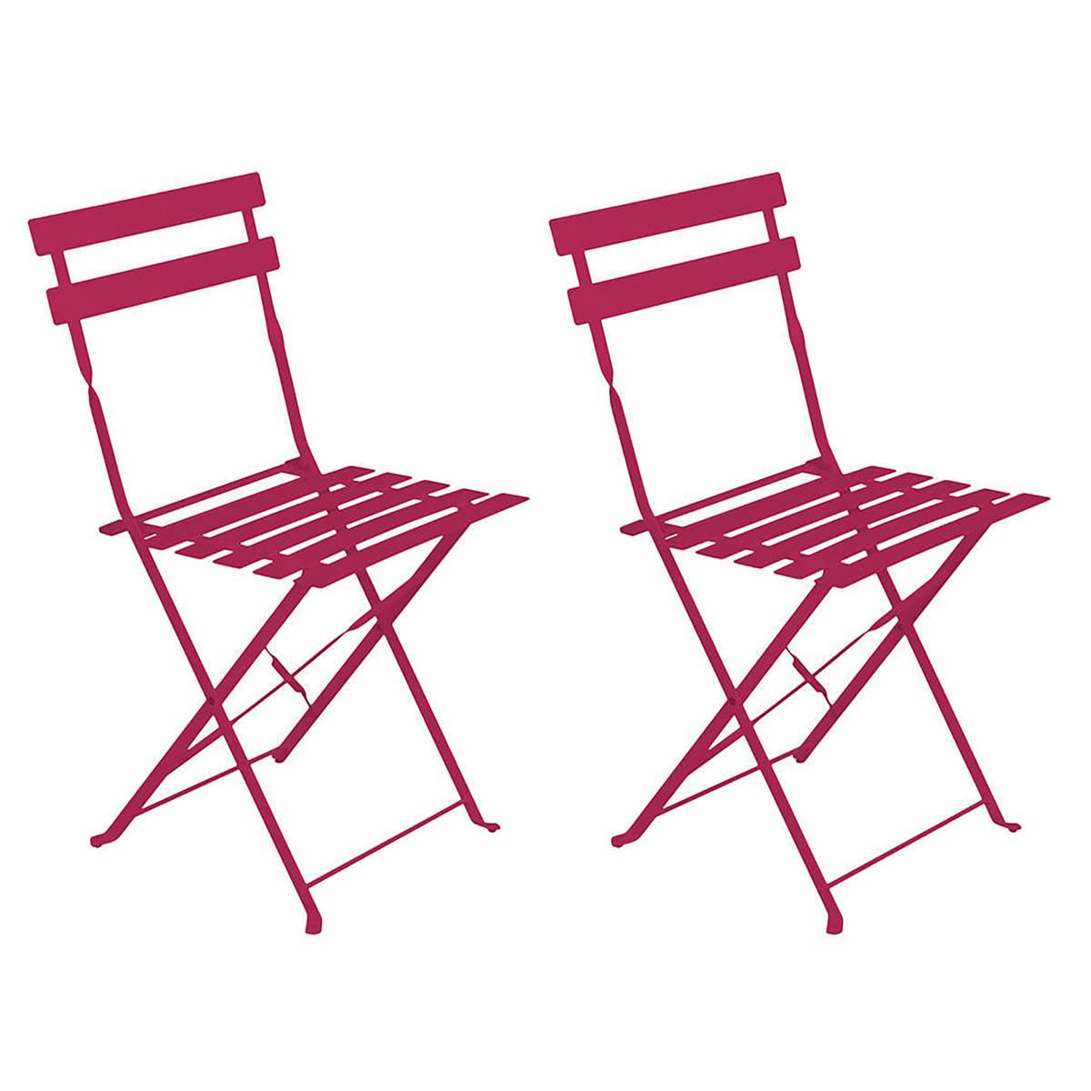 Chaise Pliante Sete Framboise destiné Chaise De Jardin Hesperide