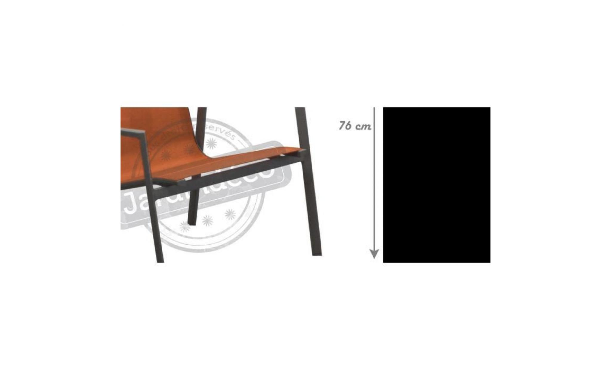 Chaises Mobilier De Jardin Mobilier De Jardin Proloisirs ... avec Salon De Jardin Aluminium Et Composite