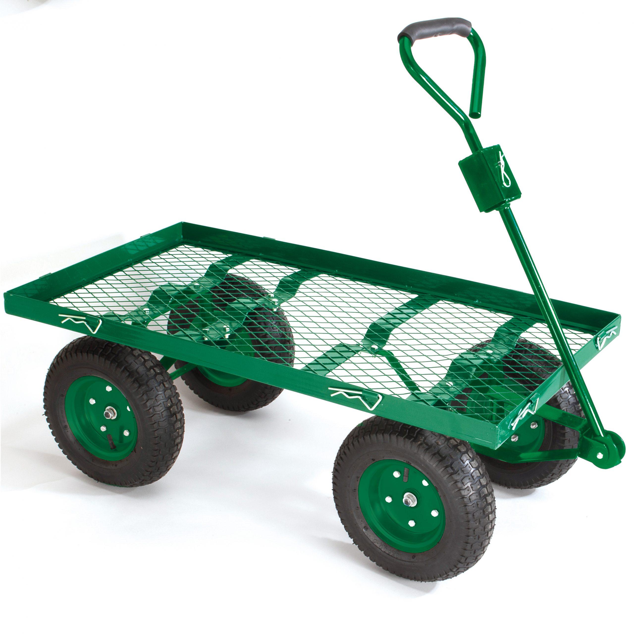 Chariot De Jardin Bâché Grillagé 4 Roues - Distriartisan encequiconcerne Chariot De Jardin 4 Roues