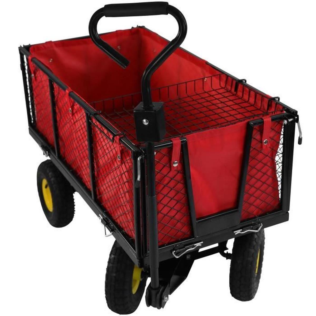 Chariot De Jardin Transport Charrette Remorque À Main Charge ... intérieur Chariot De Jardin Multi Usage