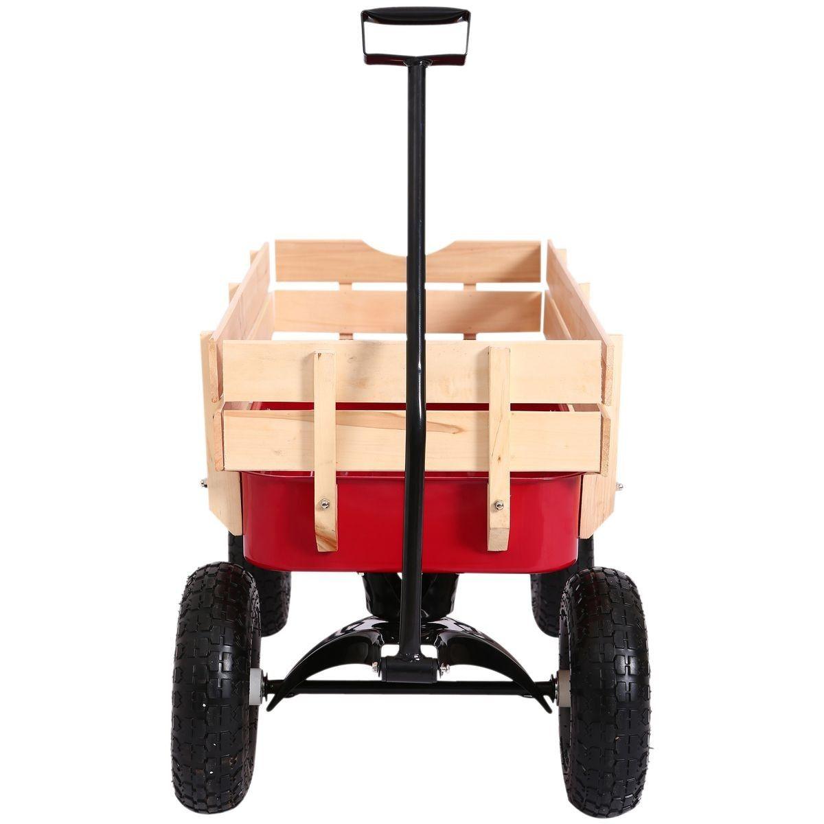 Chariot De Transport Jardin 4 Roues Rouge | Entretien Jardin ... intérieur Chariot De Jardin 4 Roues
