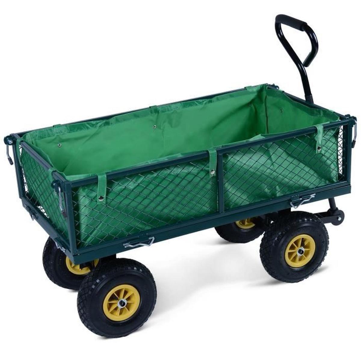 Chariot De Transport Jardin Charette Chariot Remorque À Main ... intérieur Chariot De Jardin Multi Usage
