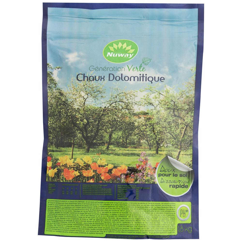 Chaux Dolomitique 1,8 Kg avec Chaux Pour Jardin
