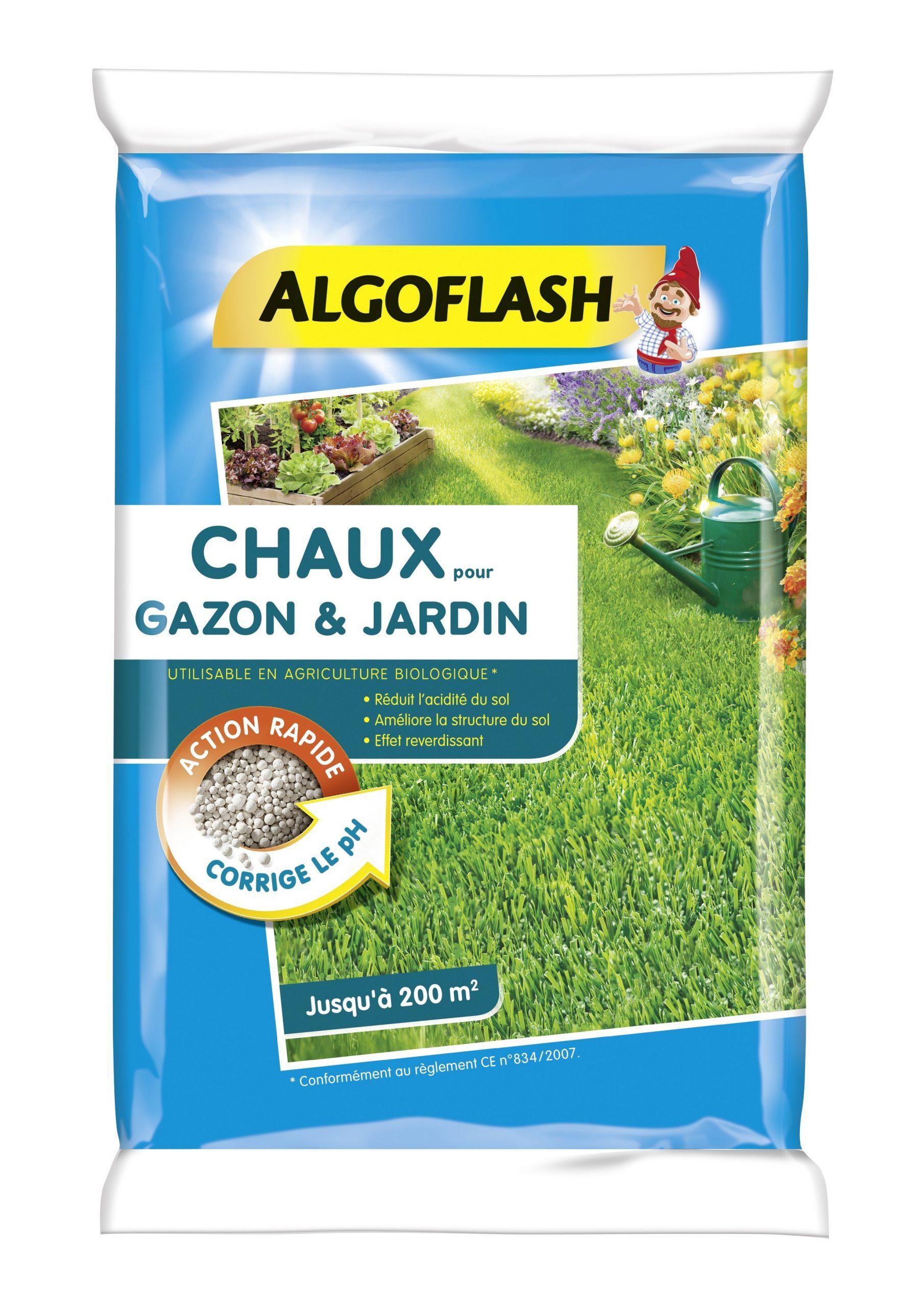 Chaux Gazon Et Jardin Algoflash 10Kg 200 M² destiné Quelle Chaux Pour Le Jardin