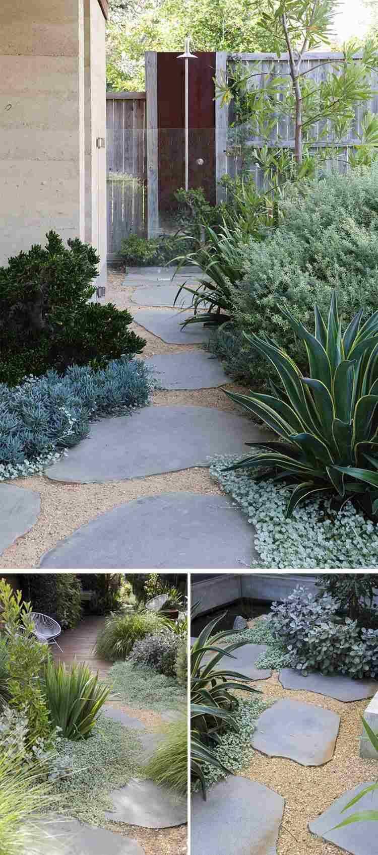 Chemin De Jardin En Pas Japonais –10 Idées D'aménagement ... serapportantà Idée D Aménagement De Jardin