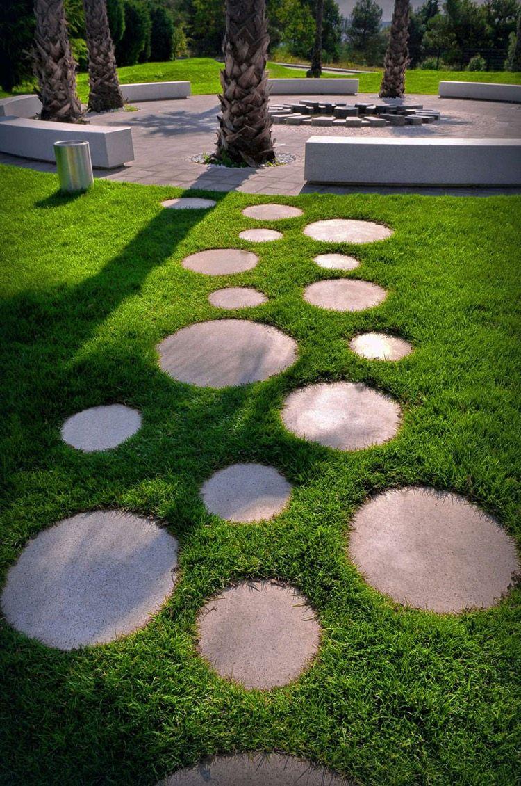 Chemin De Jardin En Pas Japonais –10 Idées D'aménagement ... tout Idée D Aménagement De Jardin