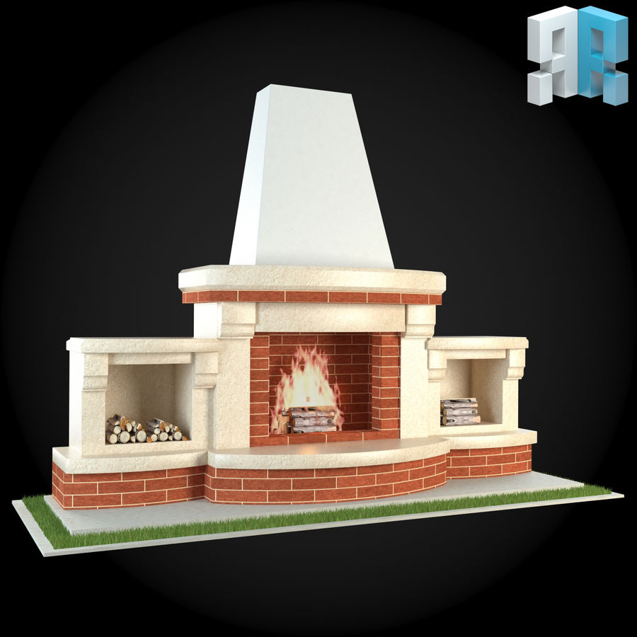 Cheminée De Jardin 006 Modèle 3D $15 - .unknown .max .obj ... destiné Cheminee De Jardin