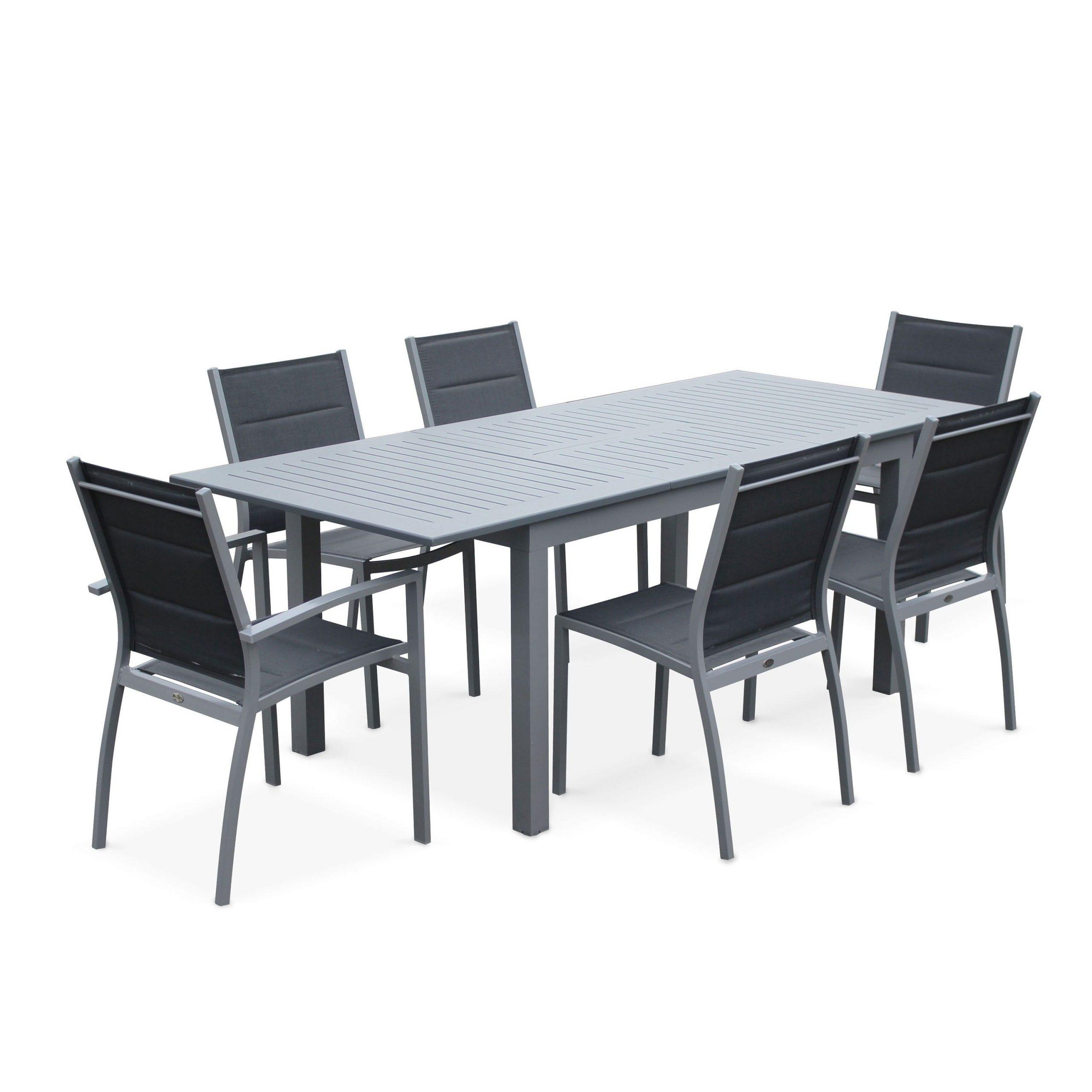Chicago 210   Terrasse   Table Extensible, Table De Jardin ... dedans Salon De Jardin Aluminium 8 Places