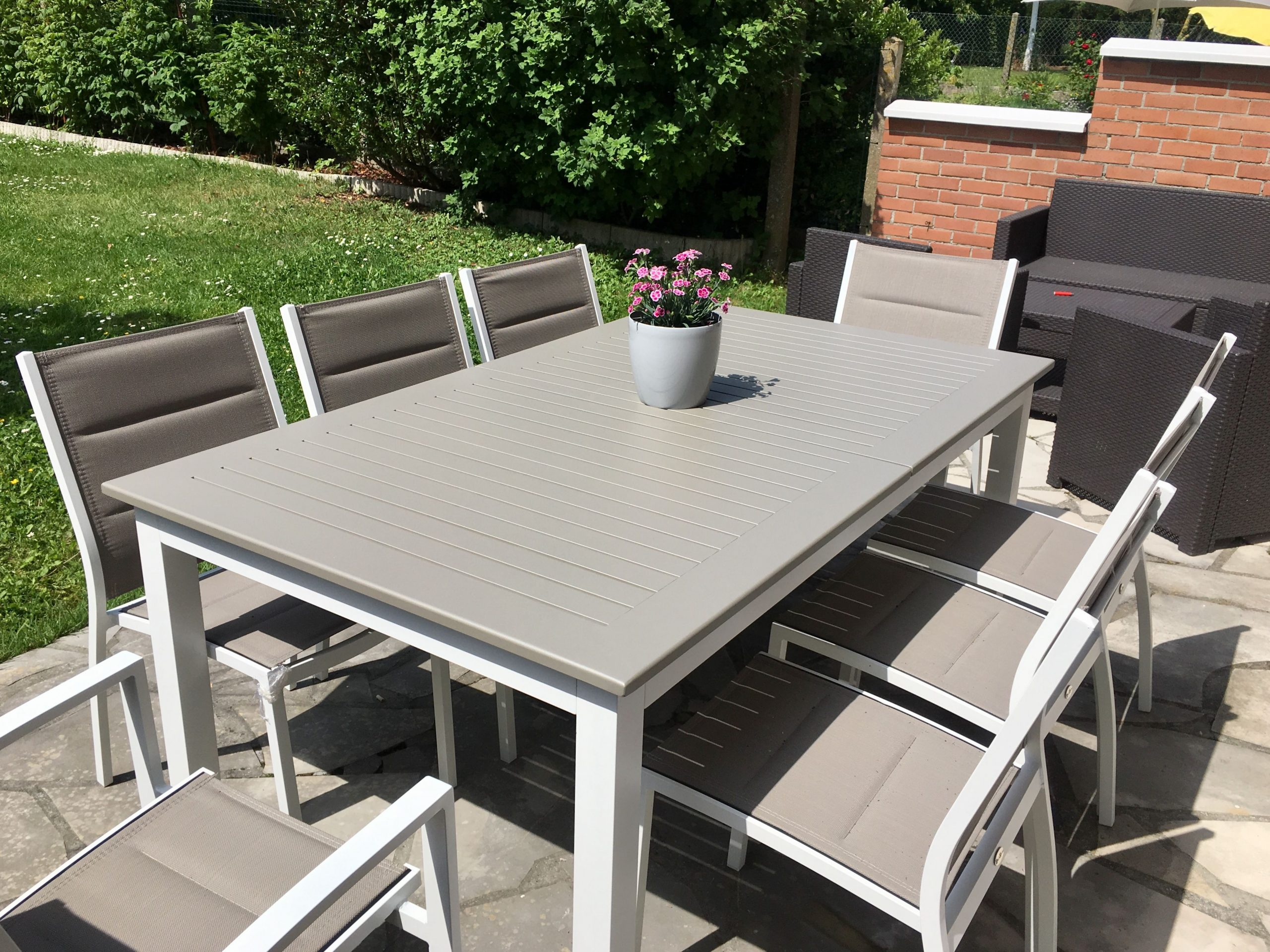 Chicago Alice's Garden : Table De Jardin À Rallonge ... concernant Table De Jardin En Aluminium Avec Rallonge