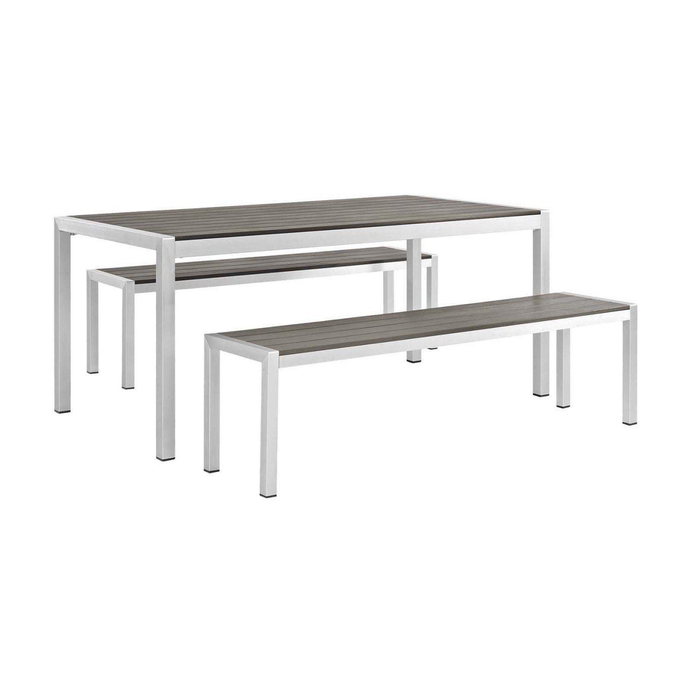Chine Mobilier Extérieur Profilé En Aluminium Polywood Table ... à Salon De Jardin Polywood