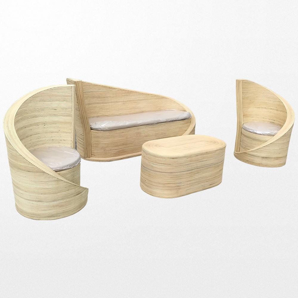 Choisissez Notre Somptueux Salon De Jardin En Rotin Naturel ... destiné Salon De Jardin Bambou