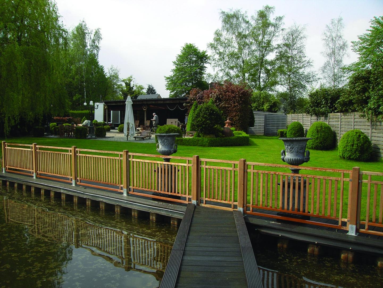 Clôture Bois Exotique à Barrière Bois Jardin