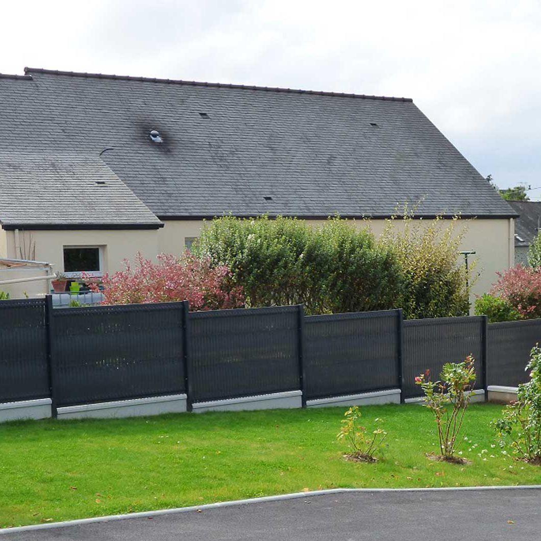 Clôture De Jardin / Pour Espaces Verts / À Panneaux / En Pvc Screeno Line  Betafence serapportantà Panneau Pvc Jardin
