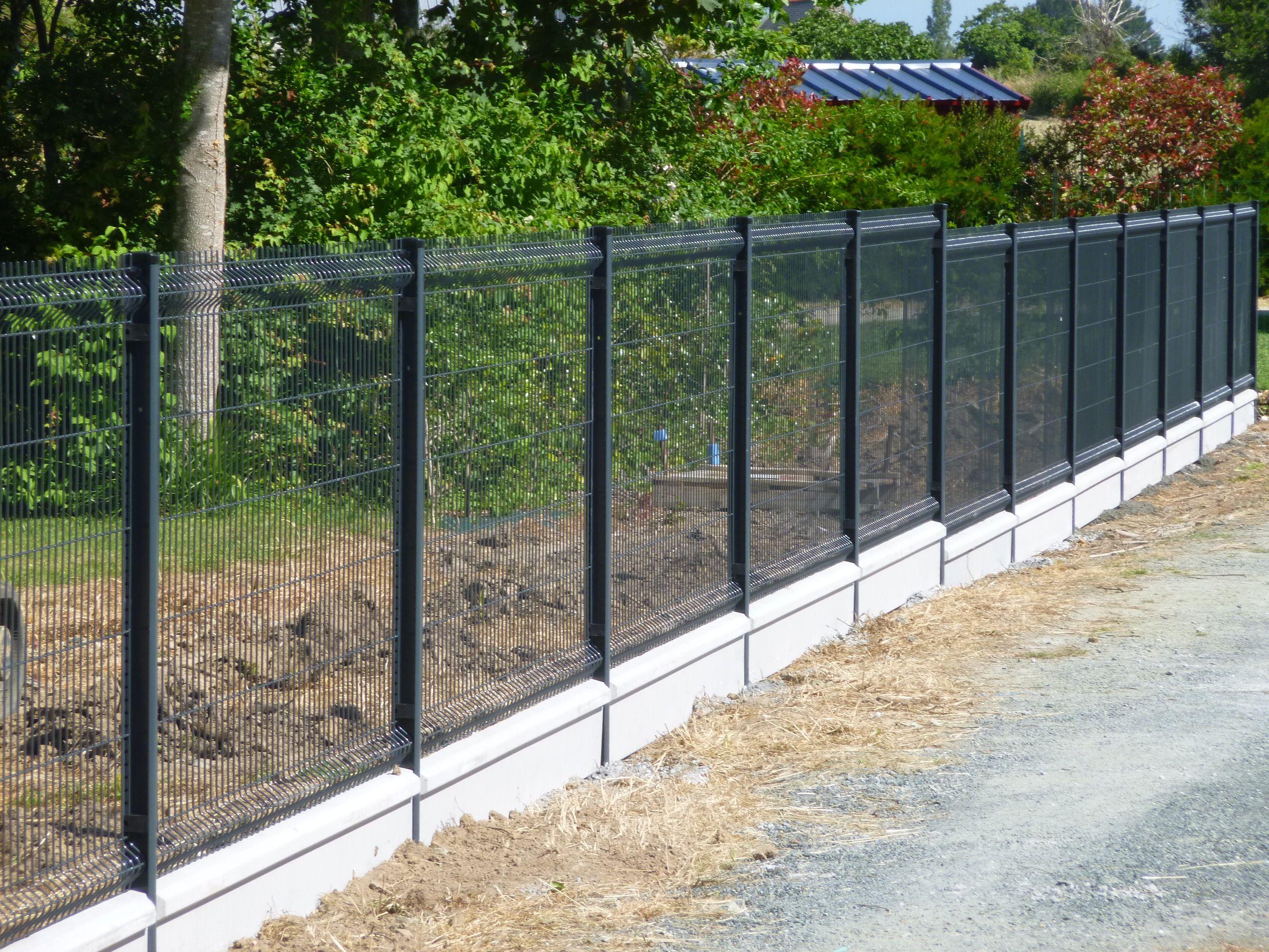 Cloture Grillage Rigide Gris | Aménagement Jardin Clôture ... pour Brise Vue Jardin Pas Cher