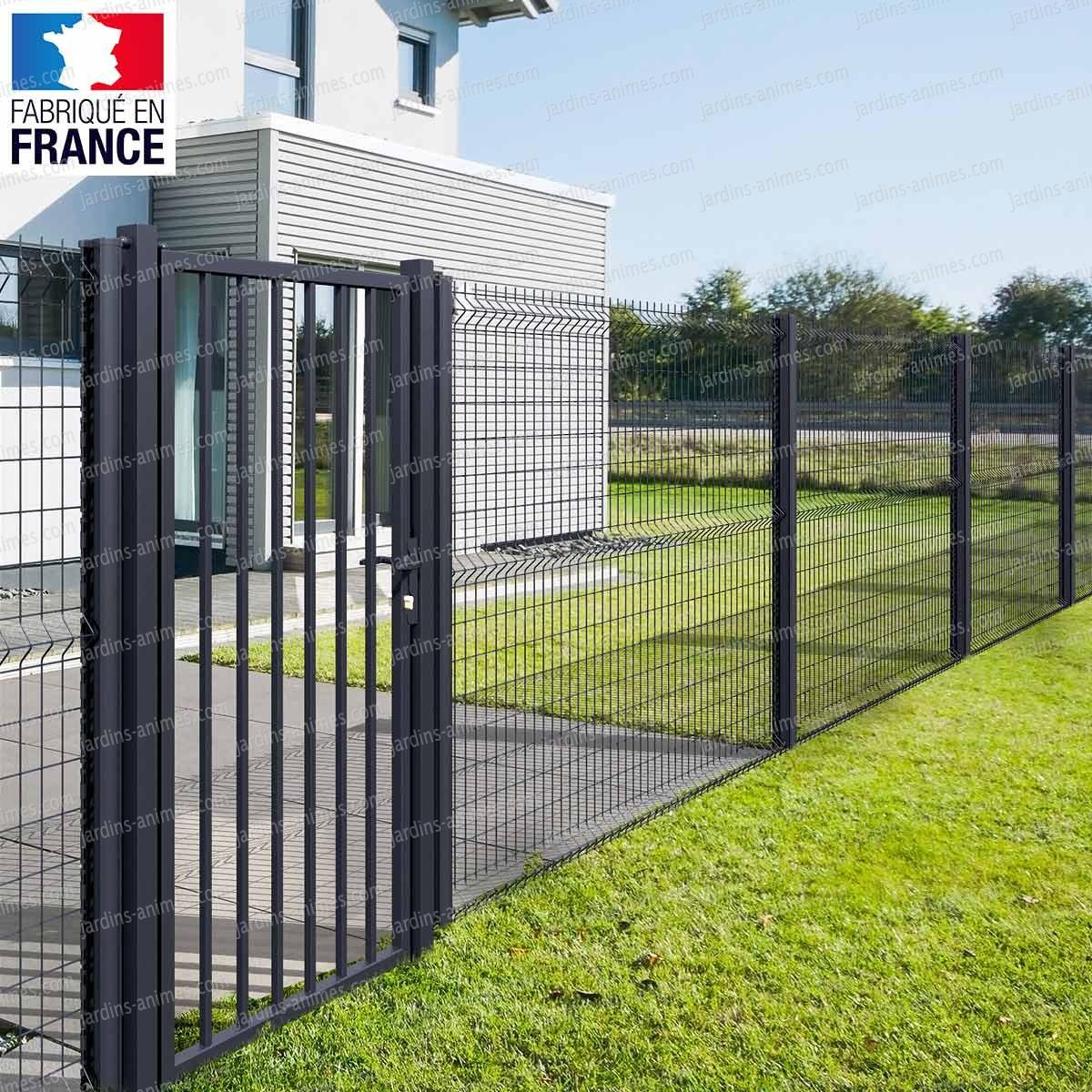 Clôture Grillage Rigide - Maille 10X5.5Cm, Gris intérieur Cloture Jardin Grillage Rigide
