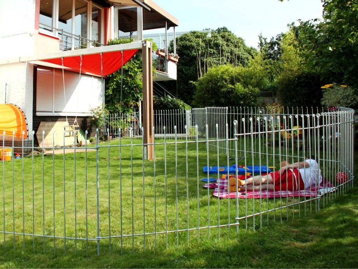 Clôture Pour Chiens Anneau - Melabel® Clôtures encequiconcerne Barriere Jardin Pour Chien