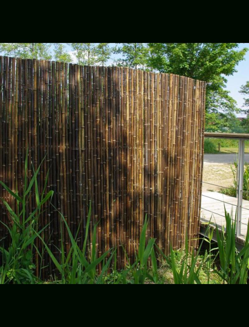 Clôture Tradition Noir Naturel Ø 2 Cm pour Cache Vue Jardin