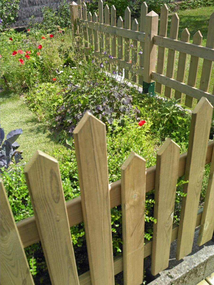 Clôturer Son Jardin | Barrière Bois Jardin, Cloture Jardin ... serapportantà Barrière Bois Jardin